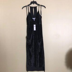 *NWT* BCBG Black Velvet Midi Dress
